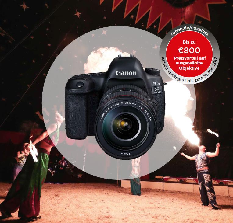 Canon EOS Plus X Aktion