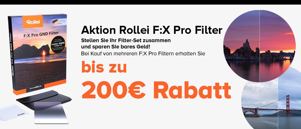 Rollei F:X Pro Filter Aktion