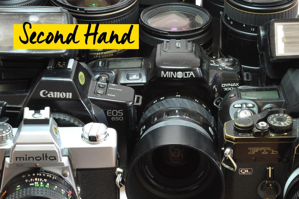 Second Hand Kameras und Objektive