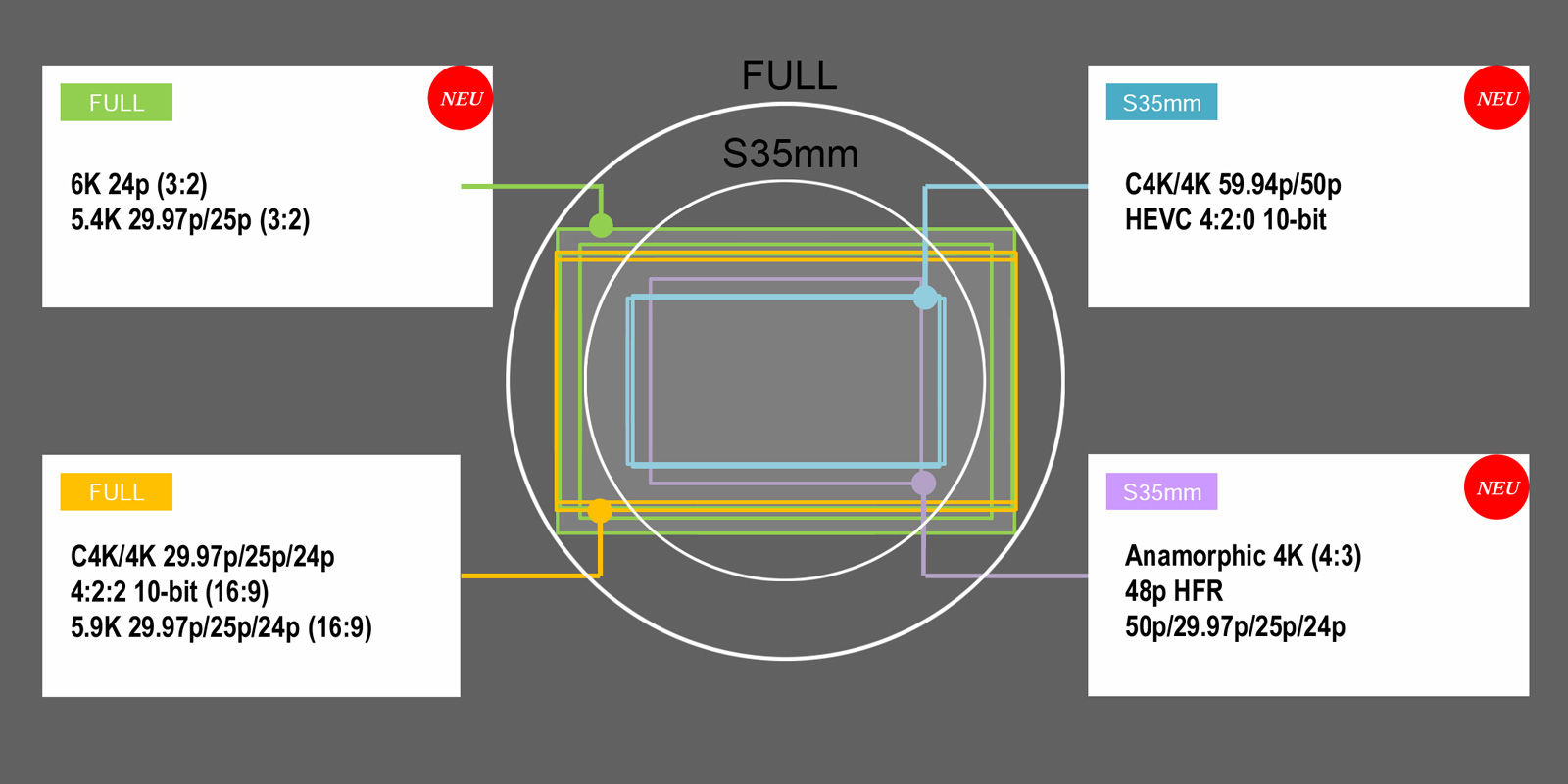 Sensor Readout bei der Lumix S1H