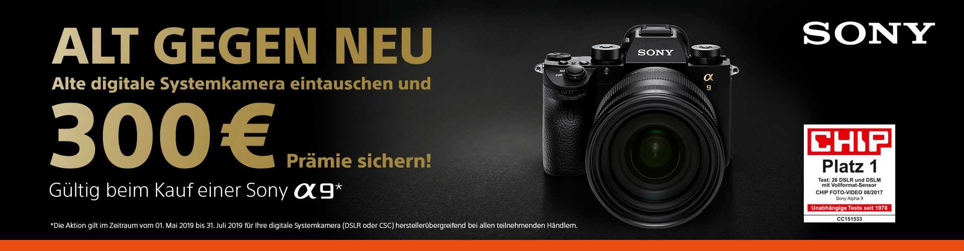 Sony Alpha 9 - Trade-in Aktion