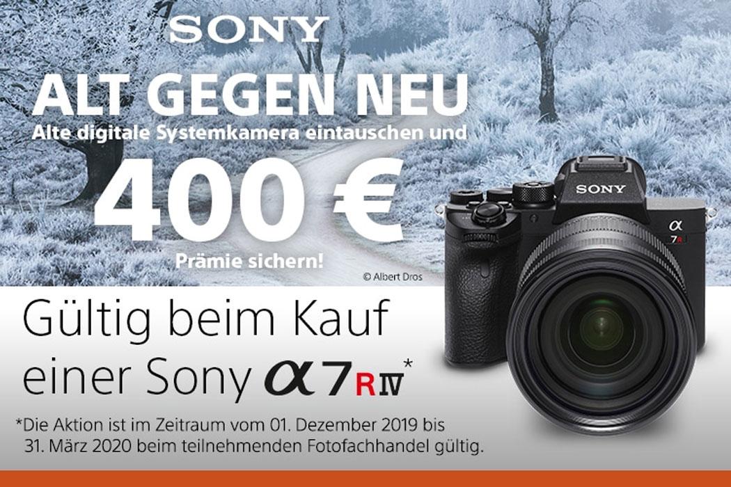 Sony Alpha 7R IV Alt gegen Neu Aktion