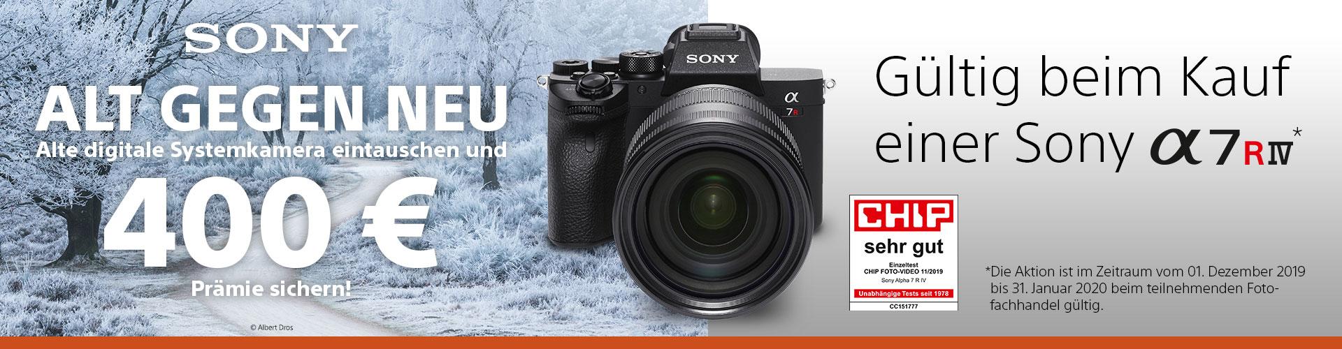 Sony Alpha 7R IV Alt-gegen-Neu Aktion