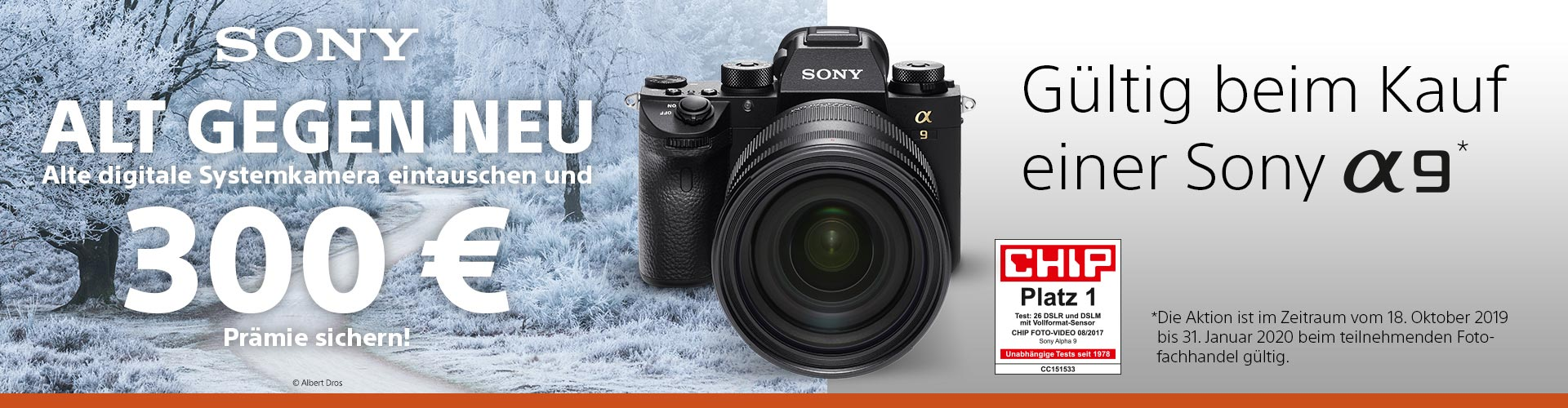 Sony Alpha 9 Alt-gegen-Neu-Aktion