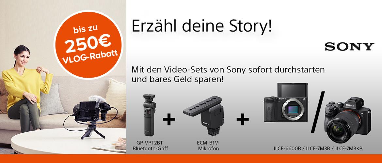 Sony VLOG Rabatt-Aktion