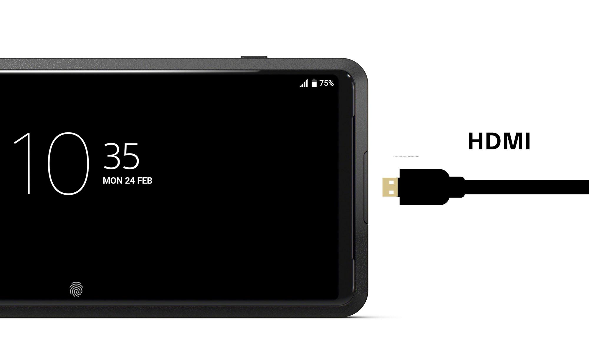 Sony Xperia Pro HDMI Anschluss