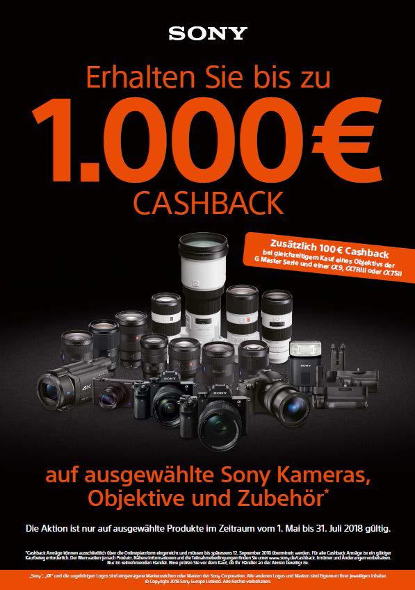 Sony 1000€ Cashback