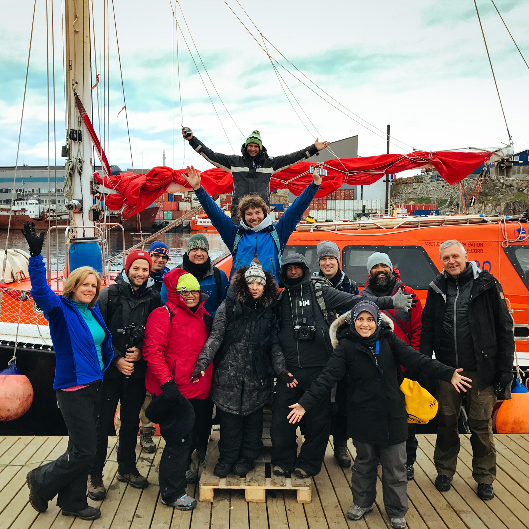 Grönland Team Making Of BTS Eisberg