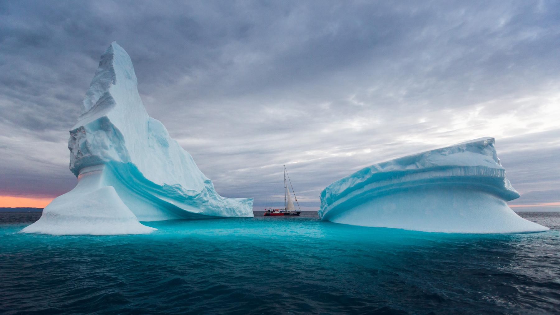 Grönland rießige Eisberg