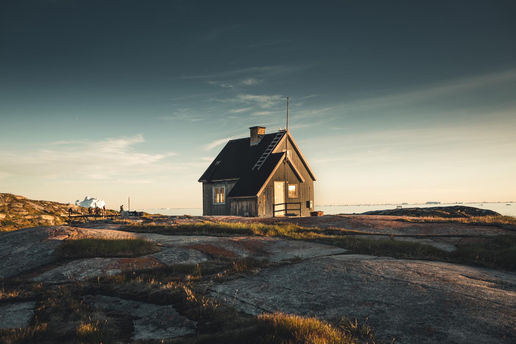 Grönland Einsames Haus