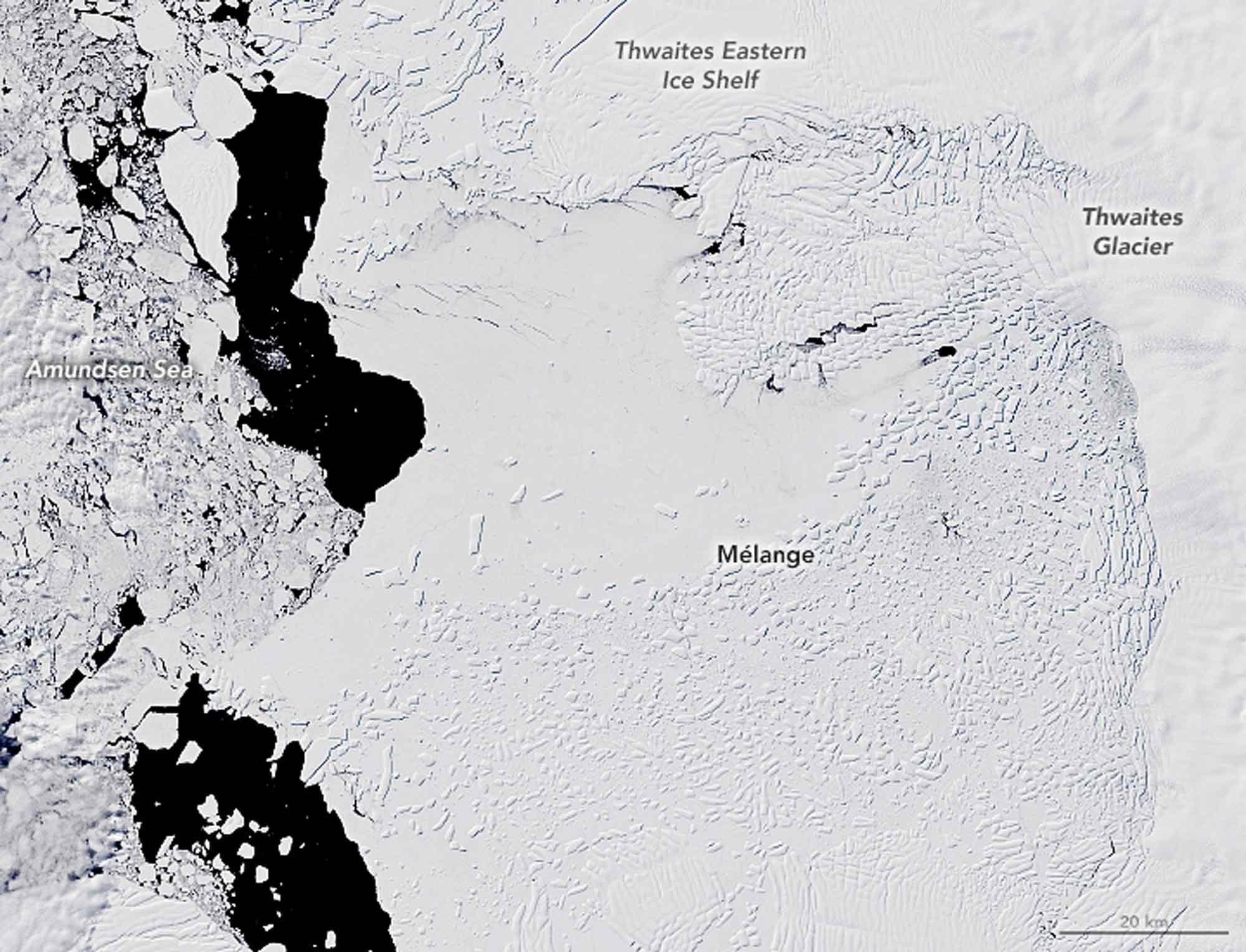 Thwaites Gletscher 2019 / Earth Observatory NASA