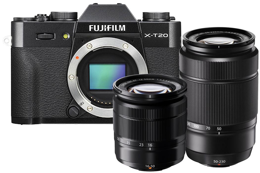 Top 5 Reisekameras Fujifilm X-T20 Doppelzoom Set
