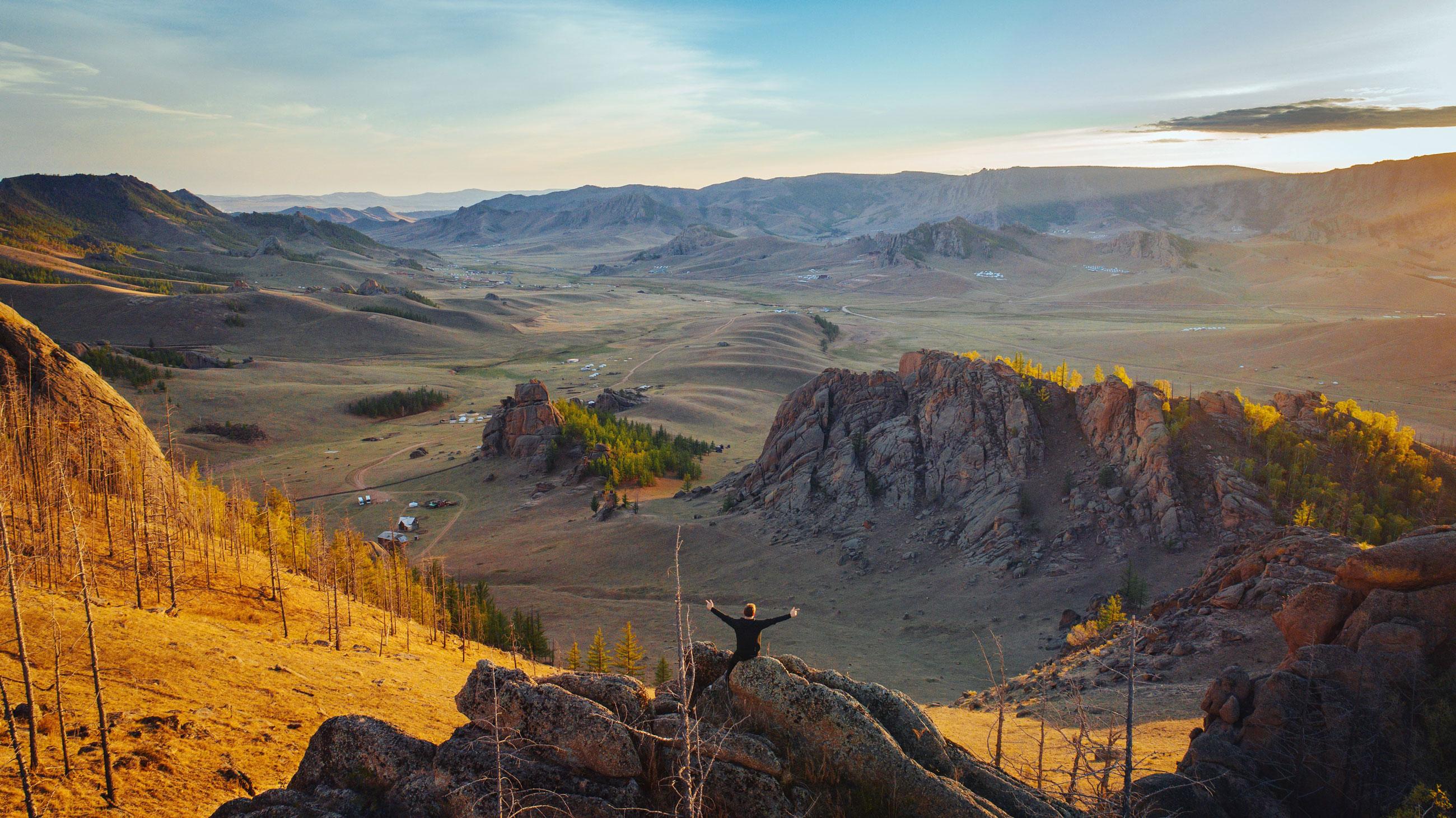 Transsibirische Eisenbahn Freiheit Berge