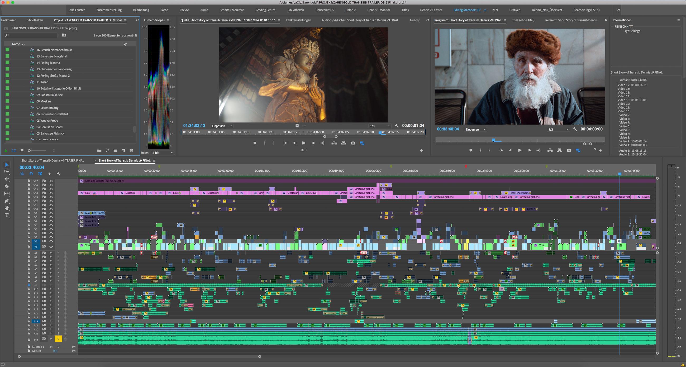 Transsibirische Eisenbahn Videoschnitt Premiere