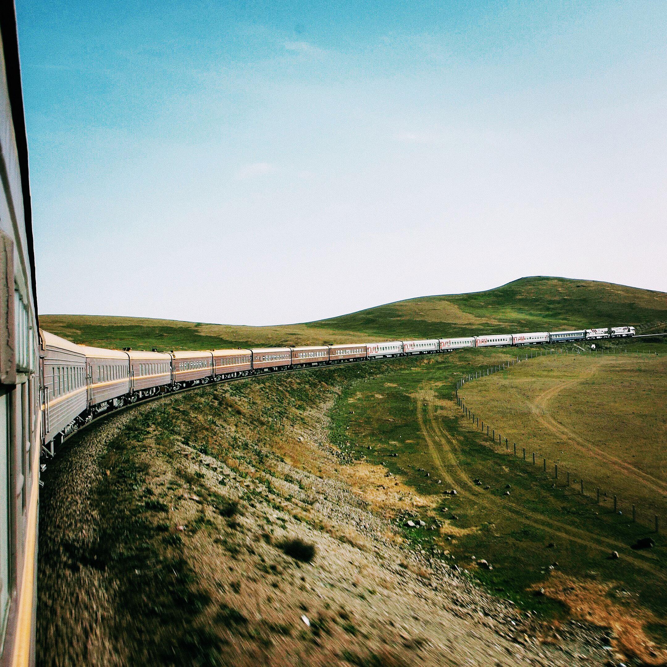 Transsibirische Eisenbahn Landschaft