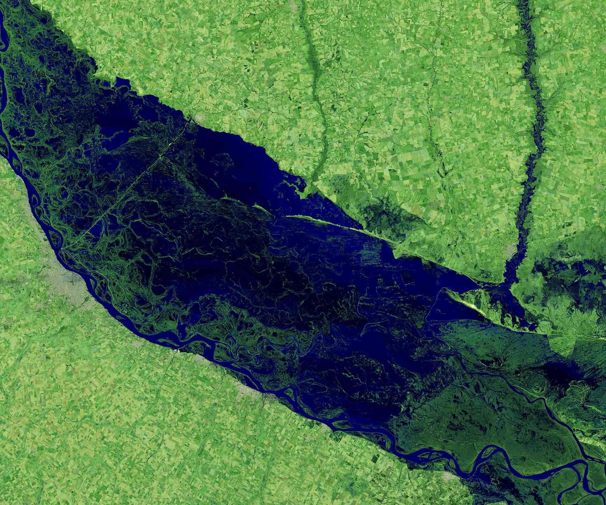 Argentinien Parana-Fluss 2019 / Earth Observatory NASA
