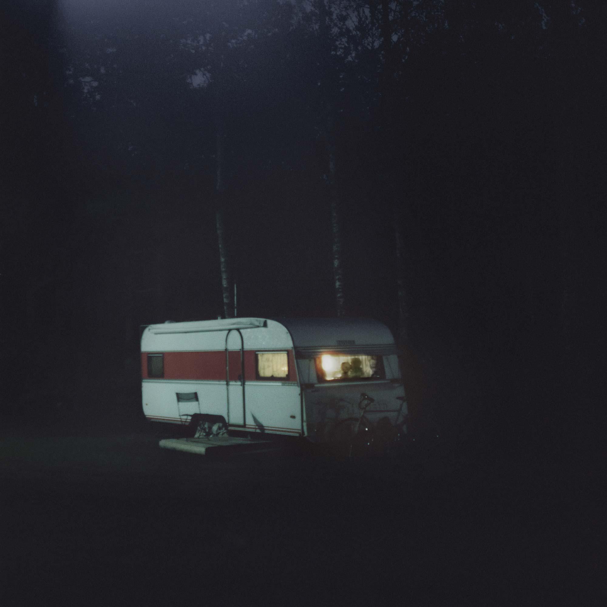 Wohnwagen unsichtbarer Moment